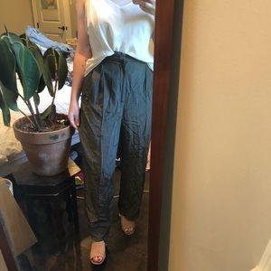 vintage wide legged silk trousers